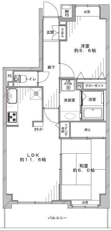 ライオンズヴィアーレ聖蹟桜ヶ丘(302)の間取り画像