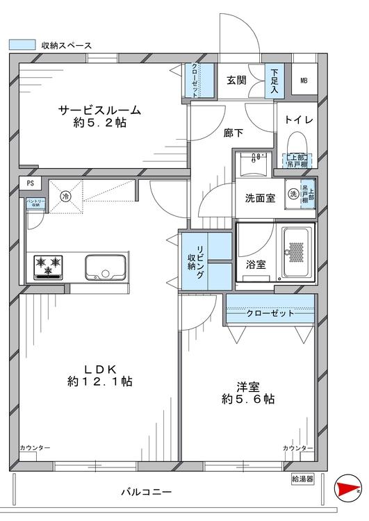 センチュリー石神井台(305)の間取り画像