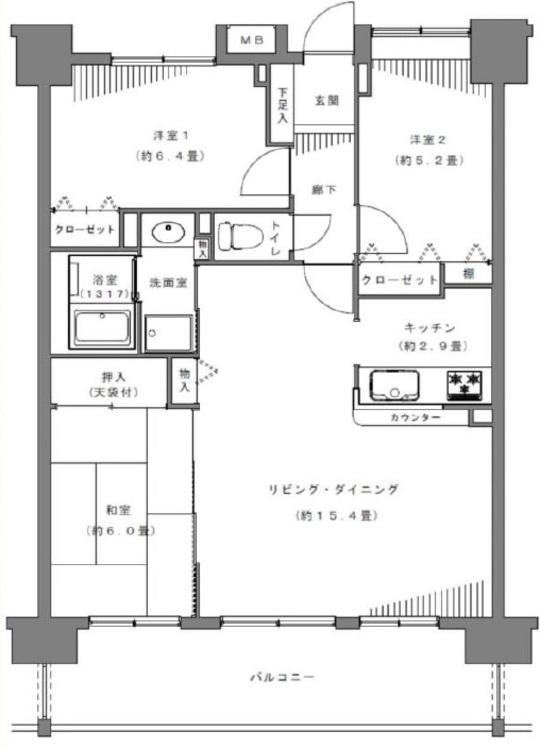 【ファミリー向け】市川市島尻【リフォーム済物件】の間取り画像