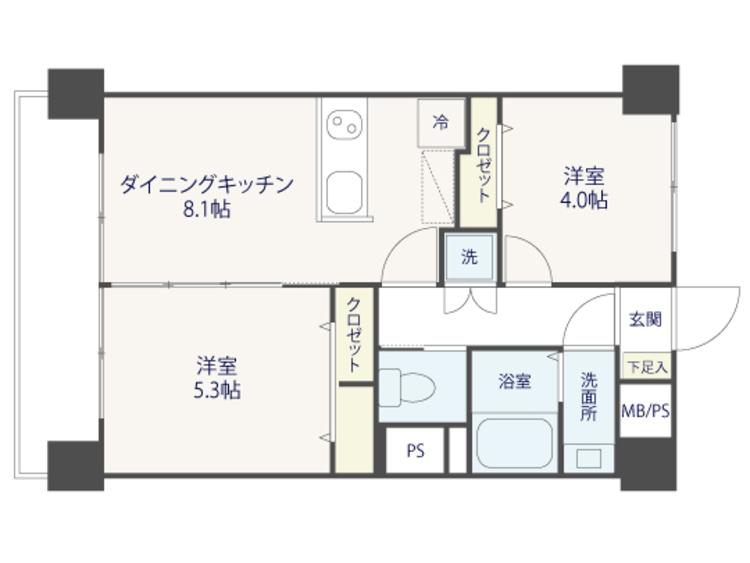 西小山で駅近LIFE♪西小山サマリヤマンション【renovation】の間取り画像
