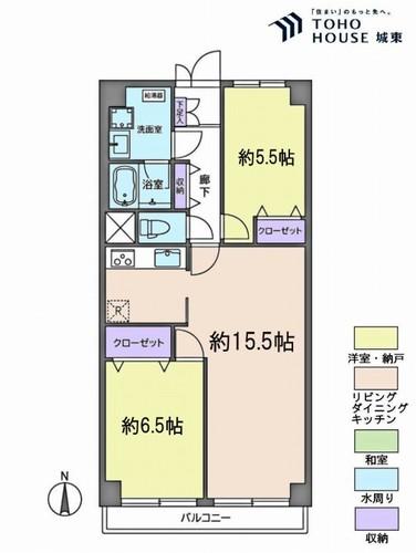 南篠崎スカイハイツB棟(9F)の物件画像