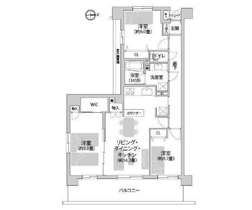 ゼファー横濱サン・コリーヌ神之木公園の物件画像