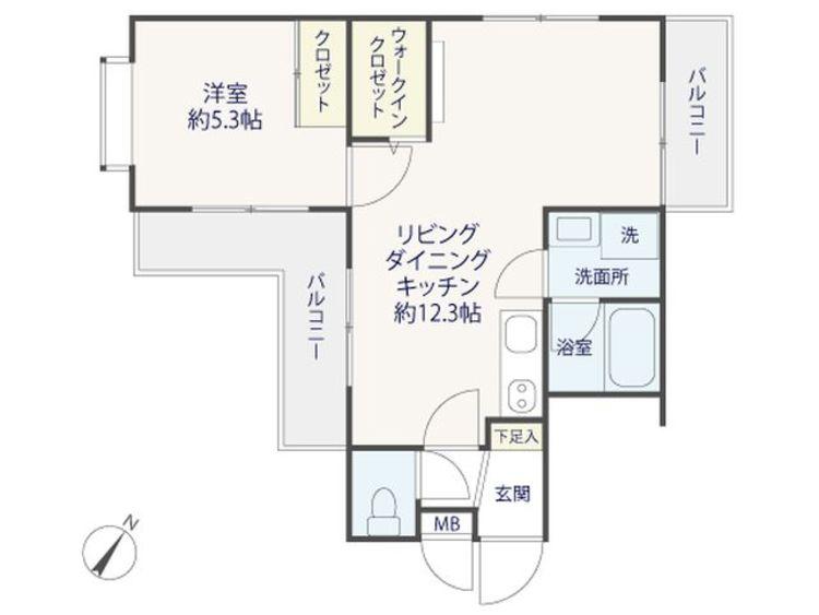 【エス・コート駒沢】駒沢大学駅徒歩8分~リノベーションマンションの間取り画像