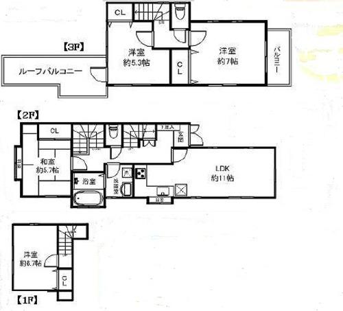 「生田」駅 徒歩10分 川崎市多摩区生田5丁目 L型キッチン カースペース2台の画像