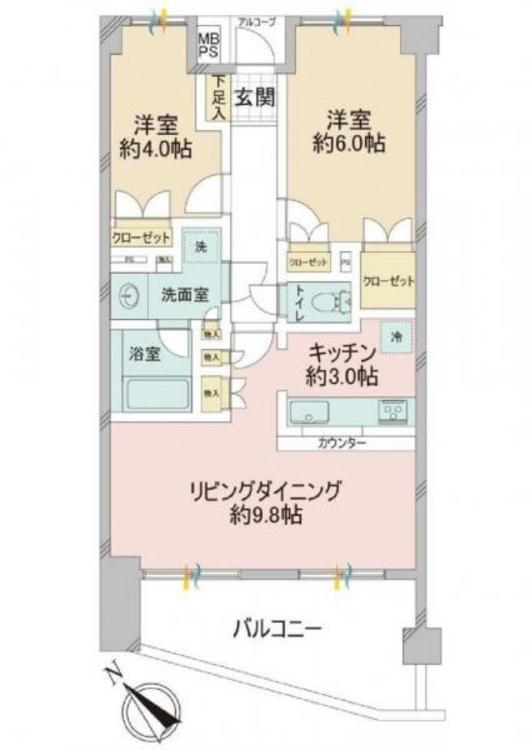 横浜上星川北パーク・ホームズの間取り画像