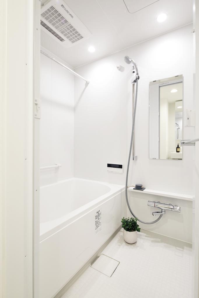 統一感のあるバスは、浴室乾燥完備。