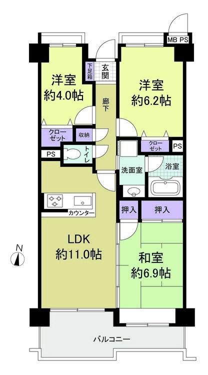 ライオンズマンション横浜中央(403)の間取り画像