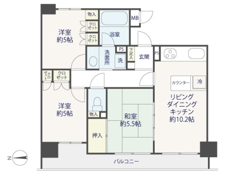 【renovation】グランイーグル梅屋敷の間取り画像