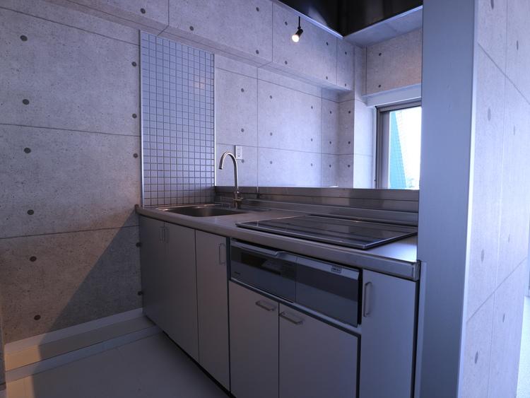 《シンシア三軒茶屋レジデンスカフェ》内装リフォーム済みのキッチン画像