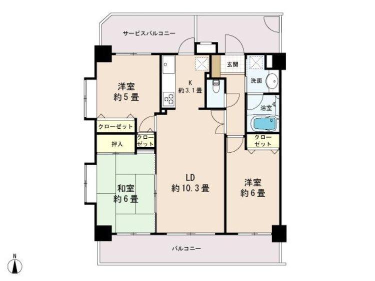 サンライズマンション田無第3の間取り画像