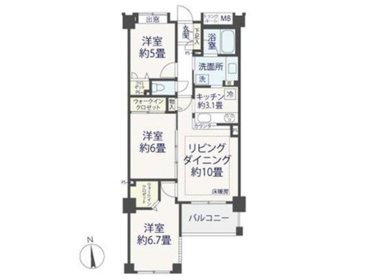 『クレストフォルム品川キャナルガーデン』~内装リノベーションされたお部屋~の間取り画像