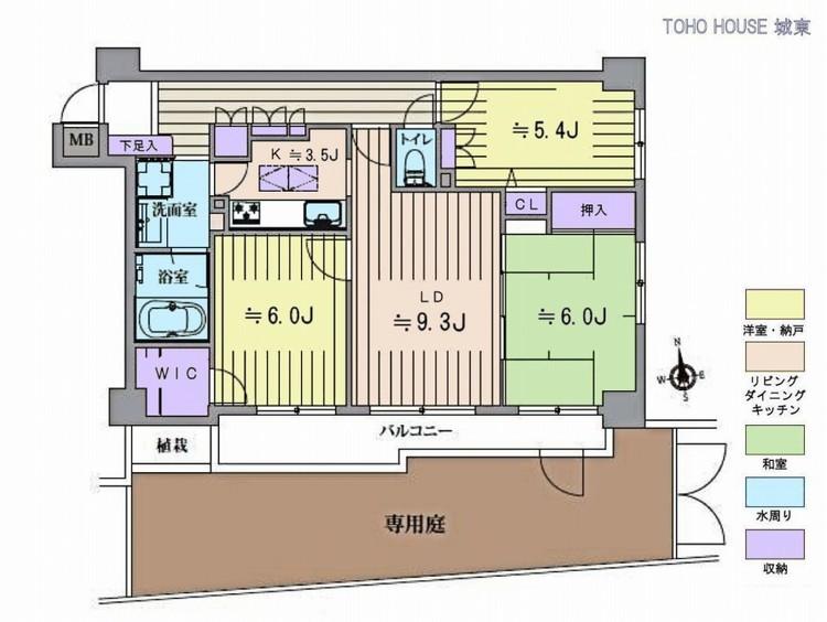 クリオ京成立石壱番館(1F)の間取り画像