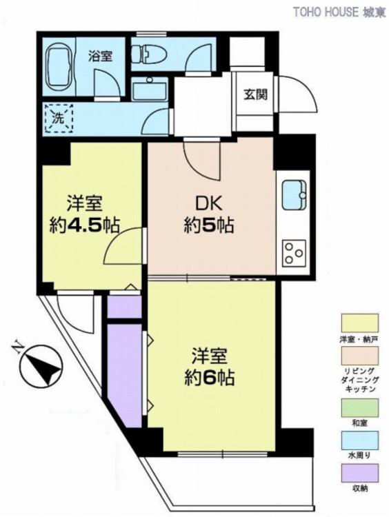 ライオンズマンション浅草三社(4F)の間取り画像