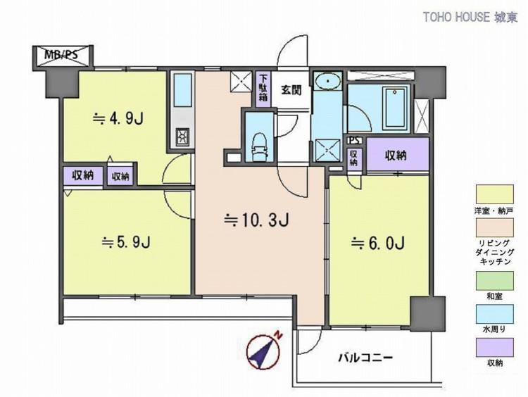ライオンズマンション葛飾青戸(8F)の間取り画像