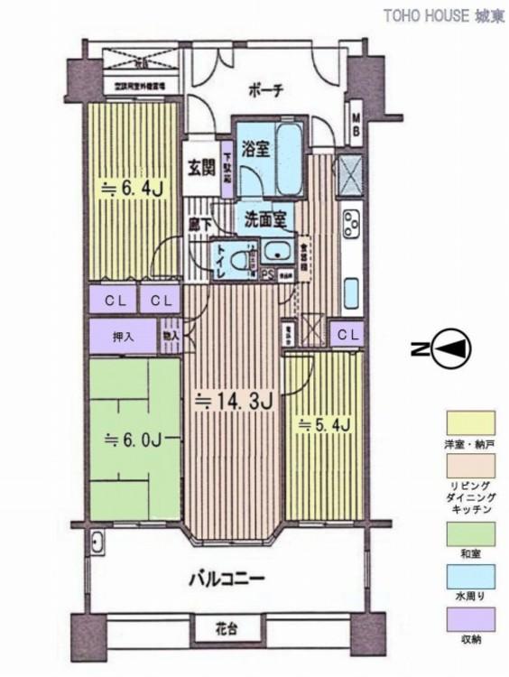 レクセルマンション京成高砂(2F)の間取り画像