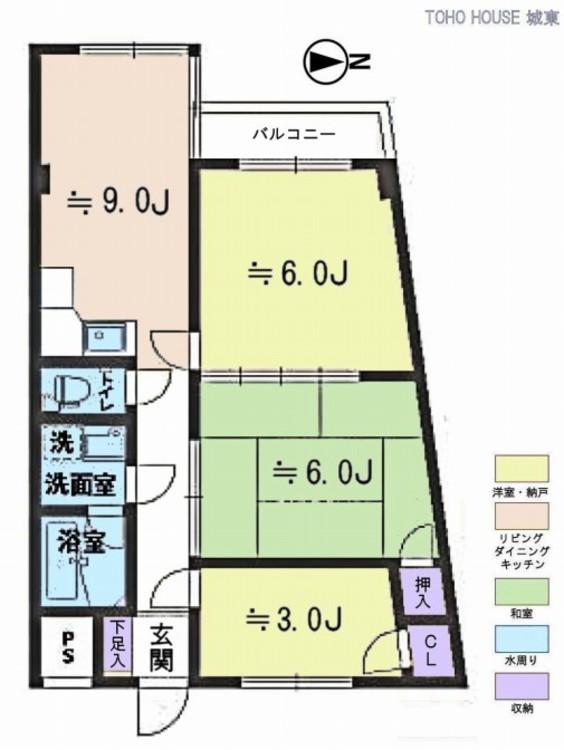 グリーンピア千寿(3F)の間取り画像