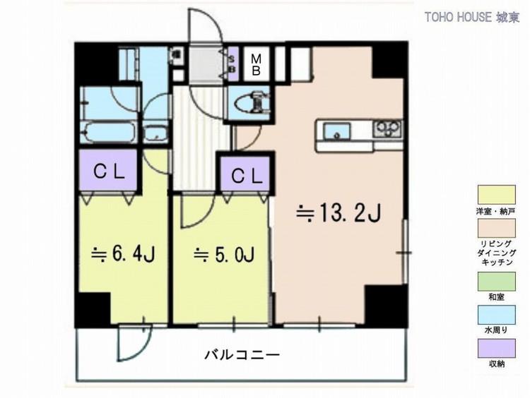 リアントレゾール東京亀有(2F)の間取り画像