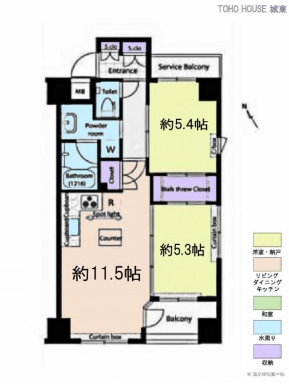 シーキューレジデンシャル上野(5F)の間取り画像