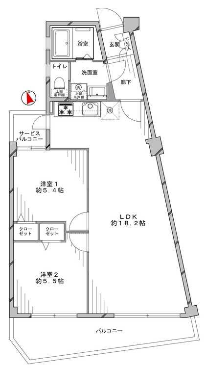 東急鷺沼第2スカイドエリング(303)の間取り画像