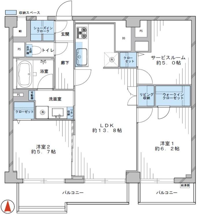 東海ミタカマンション(503)の間取り画像