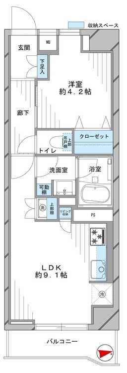 GSハイム東高円寺(205)の間取り画像