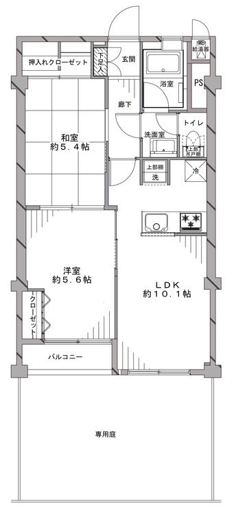 狛江第3コーポラスの間取り画像