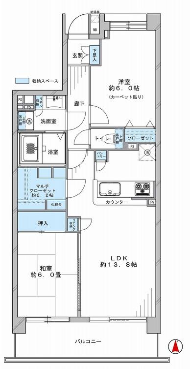 杉田パーク・ホームズ2番館の間取り画像