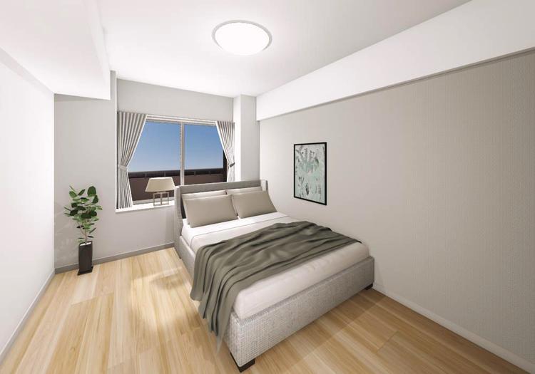 洋室1にはシステム収納が設置してあるので、衣類や小物などすっきりと整理整頓ができ、室内を広く活用できます