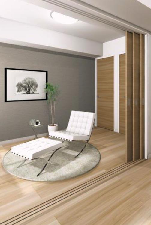 LDKに隣接する洋室2には引き戸を採用。書斎やこども部屋等、ライフスタイルの変化に合わせてさまざまな使い方が可能
