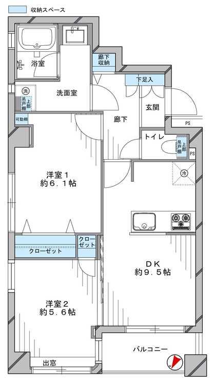 大塚スカイマンションの間取り画像
