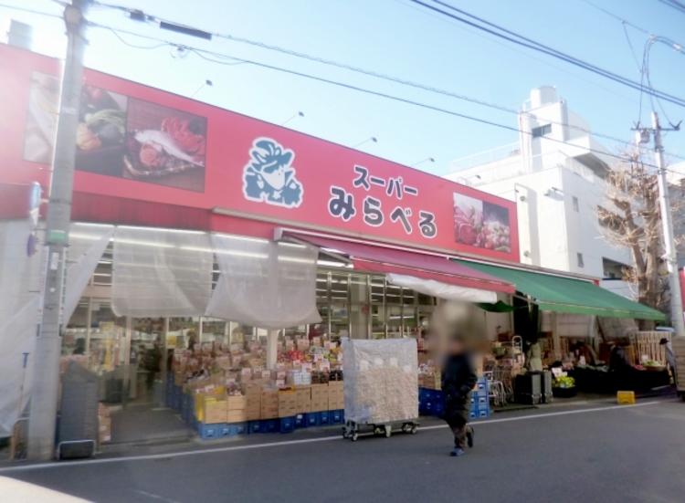 近隣のスーパーです。エントランスからはす向かいに位置しています。