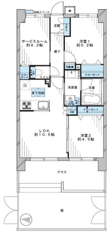 ライオンズマンション梅島南(105)の間取り画像