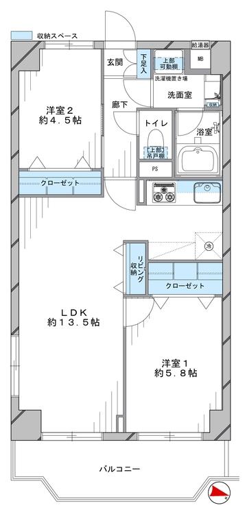 洋伸小豆沢公園マンション(214)の間取り画像