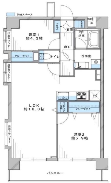 クレッセント蒲田2(603)の間取り画像