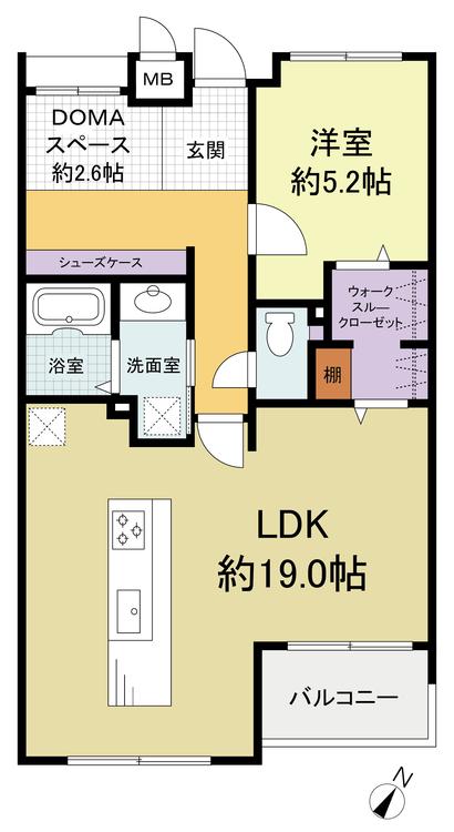 【 月々4.1万円 】シーダム湘南津久井浜(203)の間取り画像