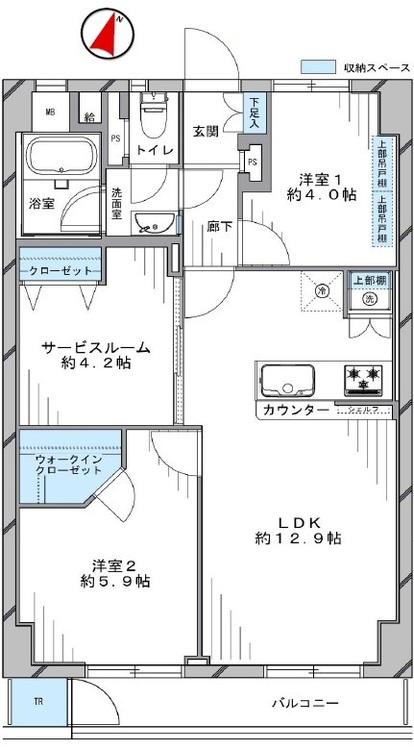 子安台共同ビル(205)の間取り画像