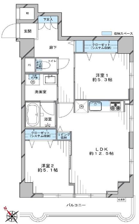 ライオンズマンション中目黒(708)の間取り画像