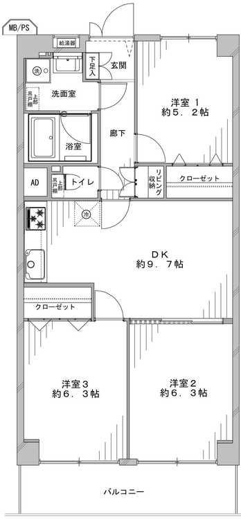 ルネ稲城(819)の間取り画像