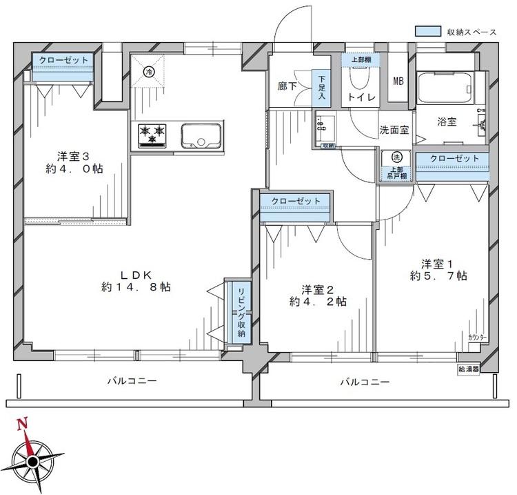富士見台第2ファミリーマンション(918)の間取り画像