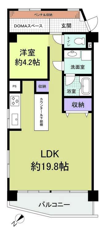 シーアイマンション神奈川の間取り画像