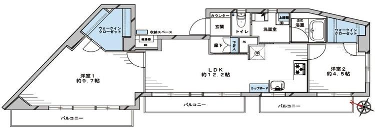 藤和シティコープ中野(701)の間取り画像