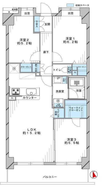 ハイラーク田無本町(202)の間取り画像