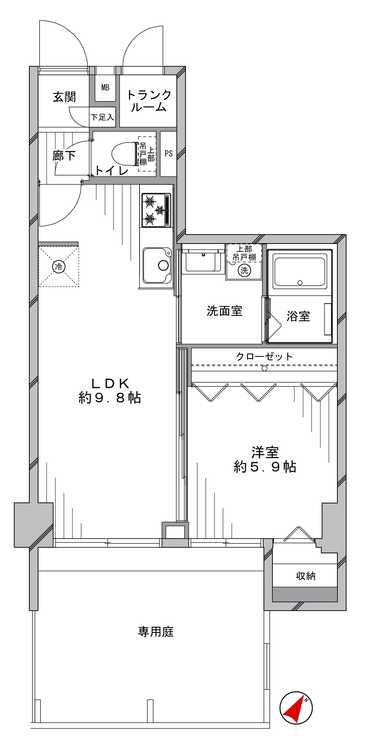 メゾン一里塚(106)の間取り画像